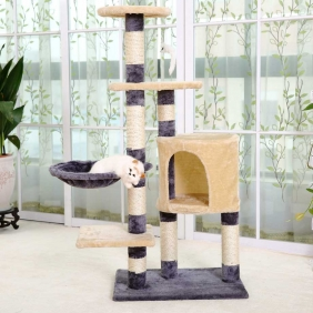 Wholesale Multi-level Cat Climber Cat Scratching House gym Cardboard Cat Tree