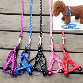 Wholesale Nylon Pet Cat Doggie Puppy Leashes Lead Harness Belt Rope